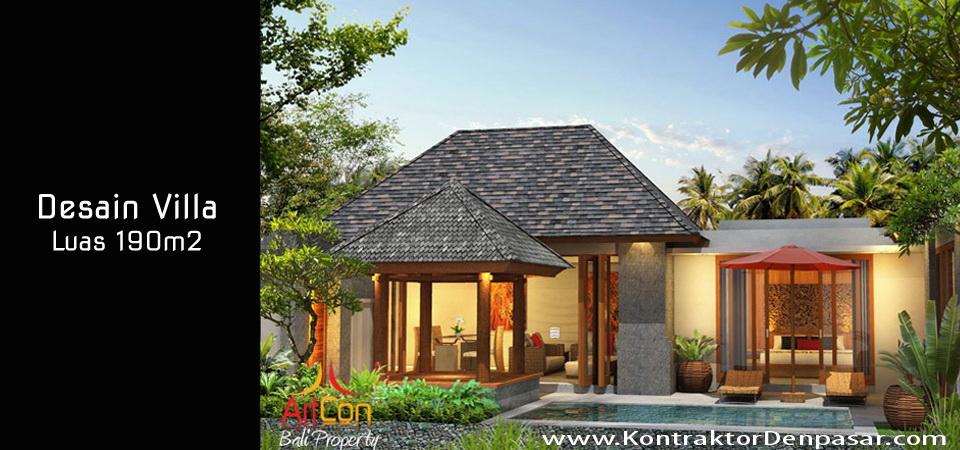 Desain Villa Luas 190m2 Made Parwata