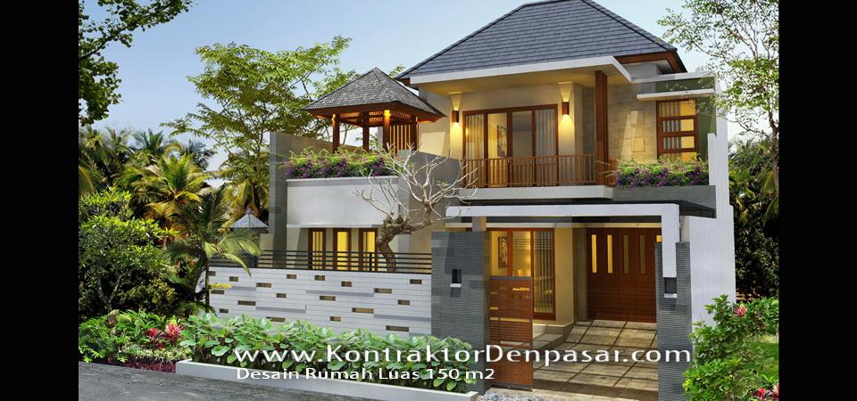 Desain Rumah Minimalis Luas 150m2  desain rumah luas 150 m2 milik bpk made judyartha artcon bali