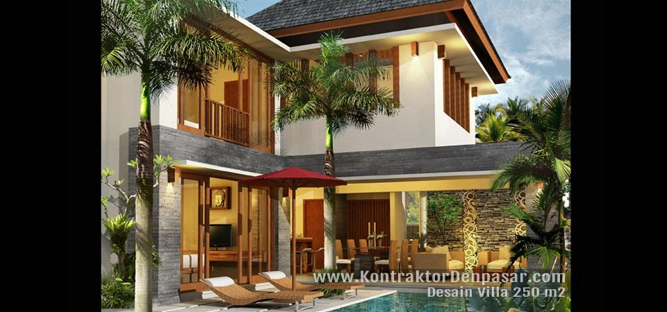 Desain Villa Luas 250 m2 Tabanan Bpk Wira Kusuma