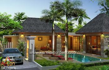 Desain Villa luas 225m2 3 bedroom Bp Chandra Seminyak