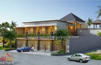 Desain Ruko luas 725m2 Bp Agung di Tabanan