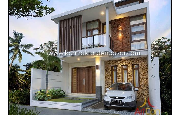 Desain Rumah 120 m2 4 Kamar Pak Nyoman Suka di Denpasar