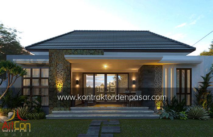 Desain Rumah 1 lantai luas 115 m2 3 Kamar Pak Gede