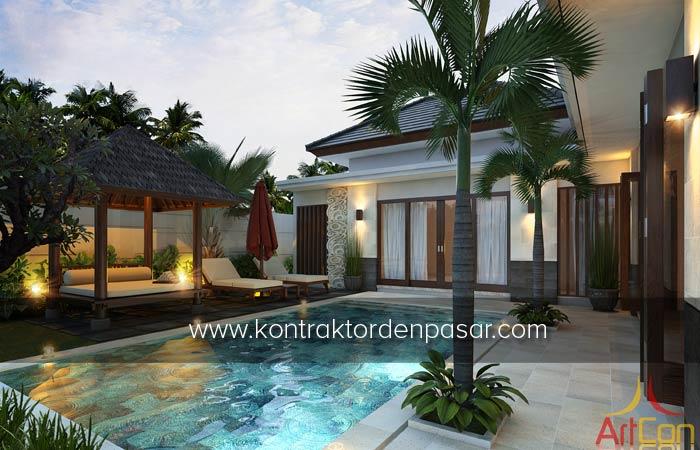 Desain Rumah 1 lantai luas 215 m2 4 Kamar bu Angelia Kupang