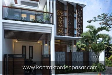 Desain Rumah 2 lantai luas 165 m2 Pak Imron Negara