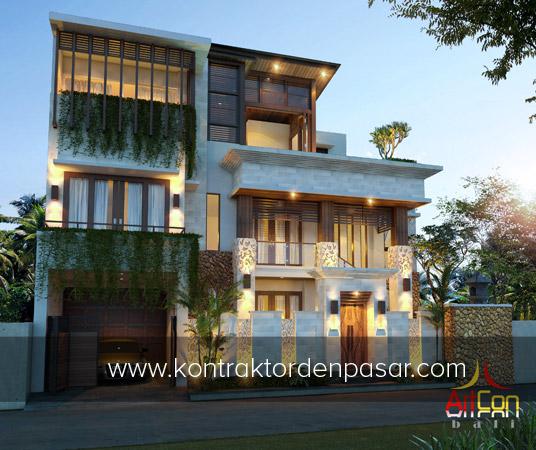 Desain rumah 3 lantai luas 380m2 P Bagia Tabanan