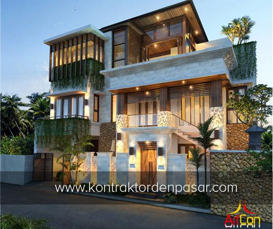 Desain Rumah Mewah 3 Lantai luas 383m2 Pak Made di Nyitdah Tabanan, Bali