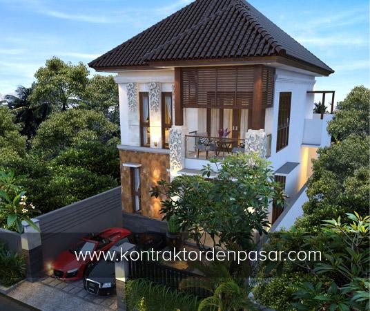 Desain Rumah 2 lantai luas 165 m2 Pak Benedin di Jimbaran