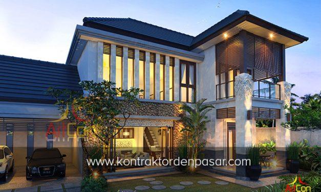 Desain Rumah 2 Lantai 4 kamar tidur luas 210 m2 di Buduk