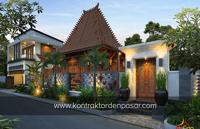 Desain Rumah Kombinasi Etnik Jawa - Klasik - Modern Di Jogja - ArtCon Bali
