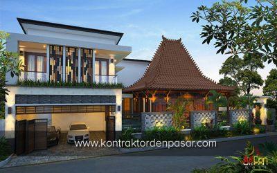 Desain Rumah Kombinasi Etnik Jawa – Klasik – Modern di Jogja