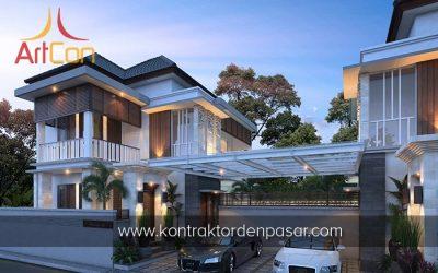 Desain Rumah 2 Lantai Bapak Hery 3 Kamar Tidur Luas 125m2