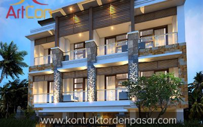 Desain Rumah Kos 3 Lantai Bapak Eka 9 Kamar Tidur Luas 170m2