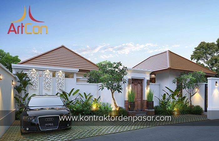 Desain Villa 1 Lantai 3 Kamar Tidur dengan Kolam Renang di Pantai Keramas Gianyar