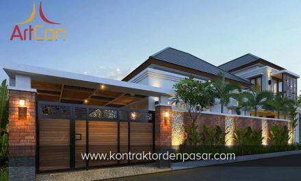 Desain Rumah 2 Lantai Bapak Ketut 5 Kamar Tidur dengan Kolam Renang Luas 240m2