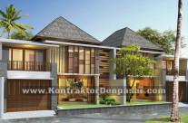Desain Rumah 2 lantai luas 180 m2 pak Santoso