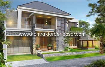 Desain Rumah Mewah 2 Lantai Ibu Dewi Luas 450 m2