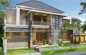desain rumah mewah 2 lantai ibu dewi luas 450 m2 - artcon bali