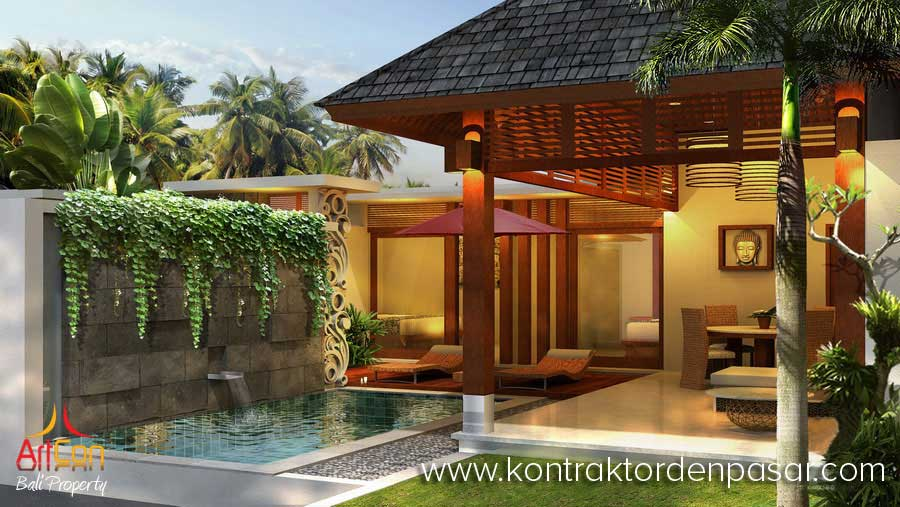 Villa Gaya Bali Tropis 170m2 pak Joy