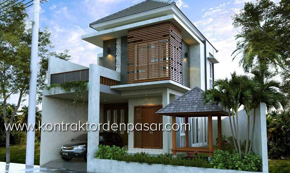 Desain Rumah 130m2 3 Kamar Ibu Ninuk Di Denpasar ArtCon Bali