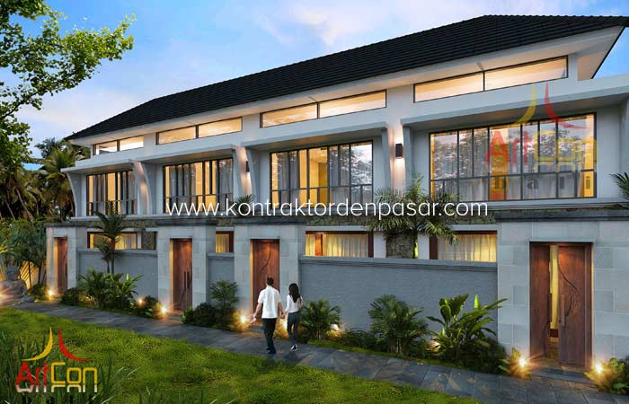 Desain Kost Elit 8 kamar Type Mezzanine Pak Made Denpasar