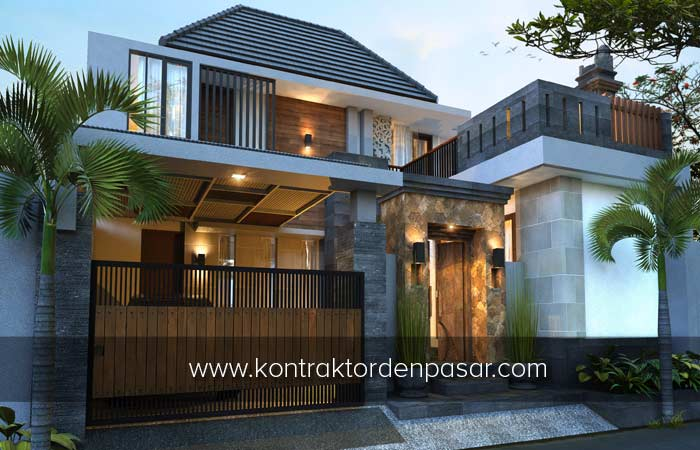 Desain Rumah 2 lantai luas 160 m2 Pak Gus Eka Denpasar