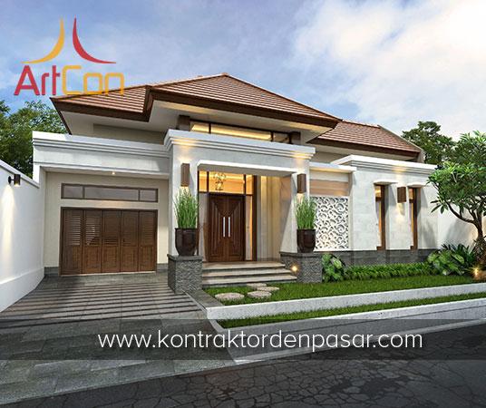 Desain Rumah 1 Lantai Bapak Iwan 3 Kamar Tidur Luas 190m2
