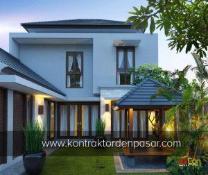 desain rumah 2 lantai 4 kamar tidur luas 150 m2 bali