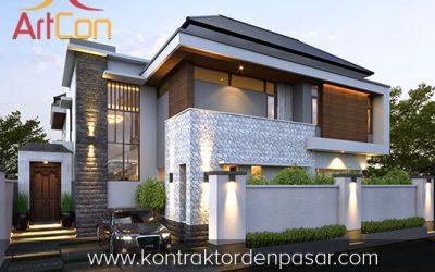 Desain Rumah 2 Lantai Pak Steven 3 Kamar Tidur Luas 400 m2